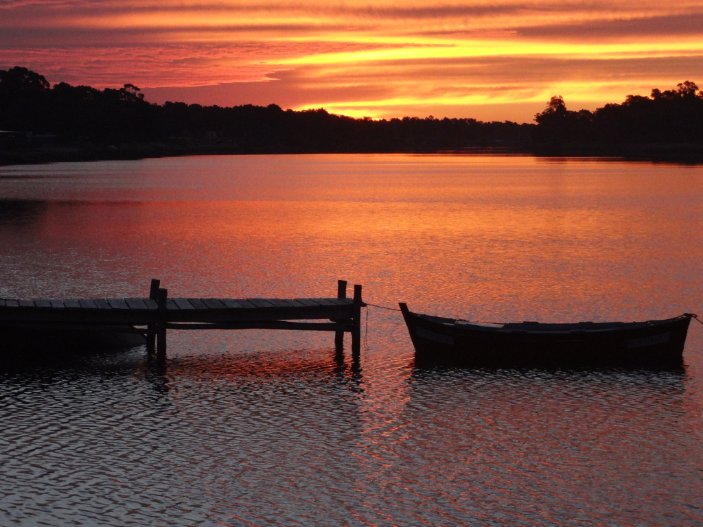 Sonnenuntergang am Arroyo Pando