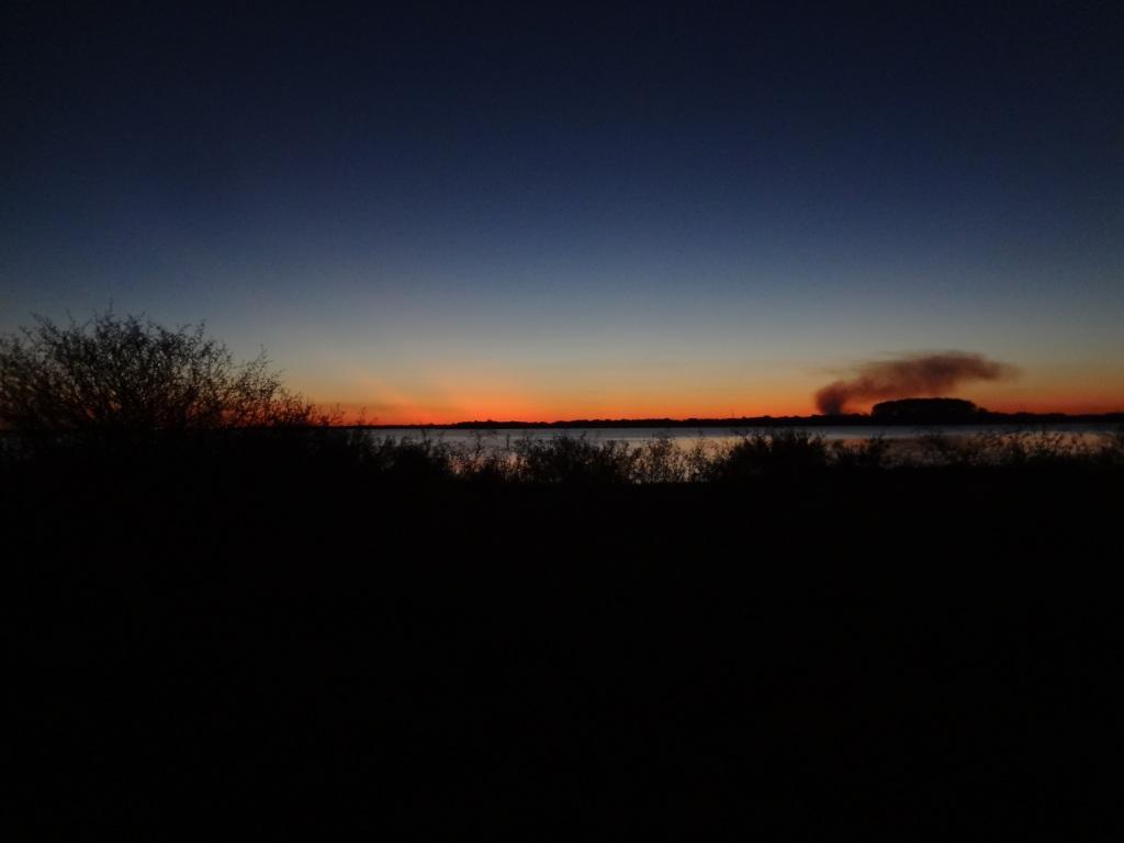 Sonnenuntergang über dem Rio Uruguay
