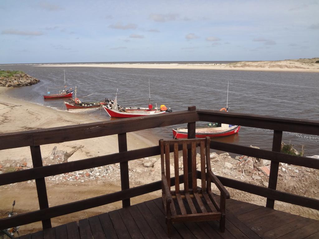Blick vom Balkon eines Apartments in Uruguay