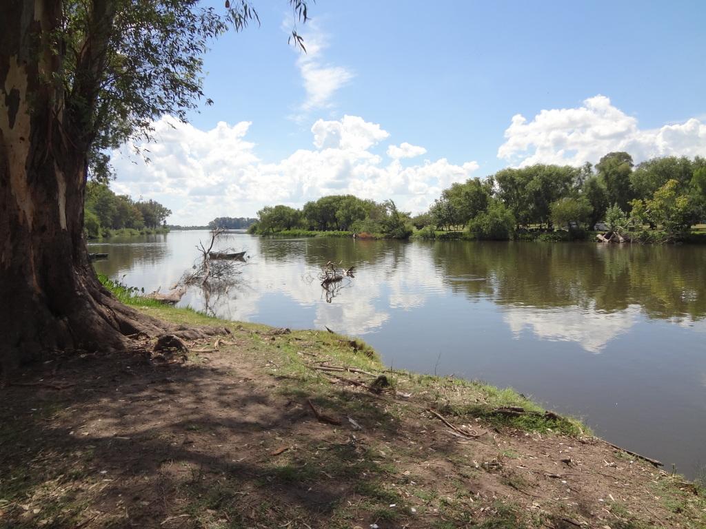 Rio Negro Fluss im Department Rio Negro in Uruguay