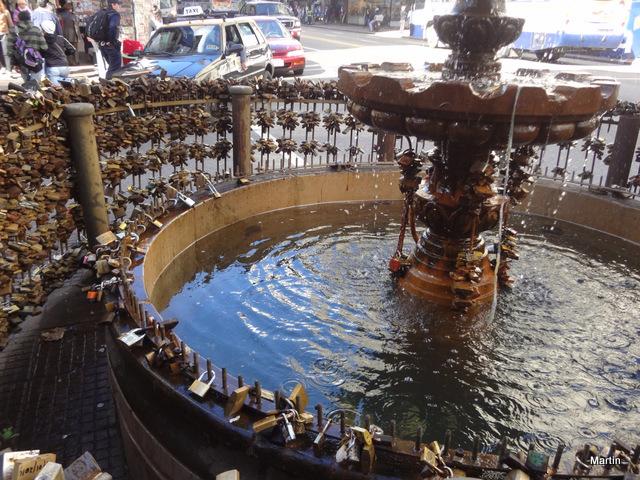 Brunnen für Verliebte in Montevideo Uruguay