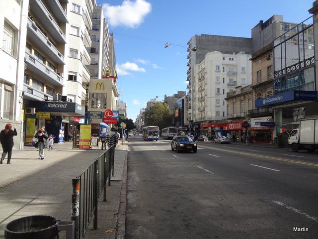 Montevideo 18 de Julio Hauptgeschäftsstrasse