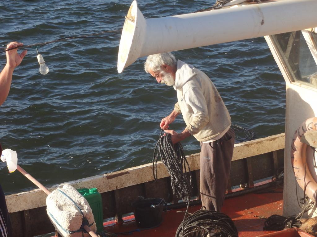 Fischer bei der Arbeit in La Paloma