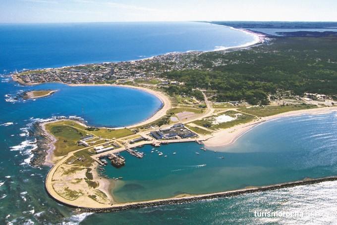 Badeort La Paloma Rocha Uruguay aus der Luft - Standort von Uruguay erleben